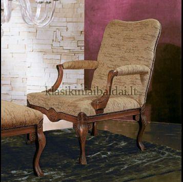 Klasikiniai svetaines baldai art 0776P Krėslas