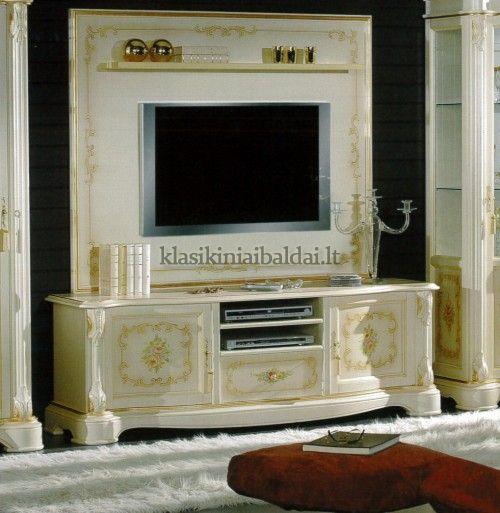 Klasikiniai svetaines baldai art 2328 TV baldas