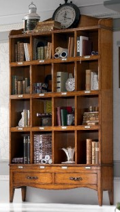 Klasikiniai svetaines baldai ETERNITY art 6113 Knygų lentyna