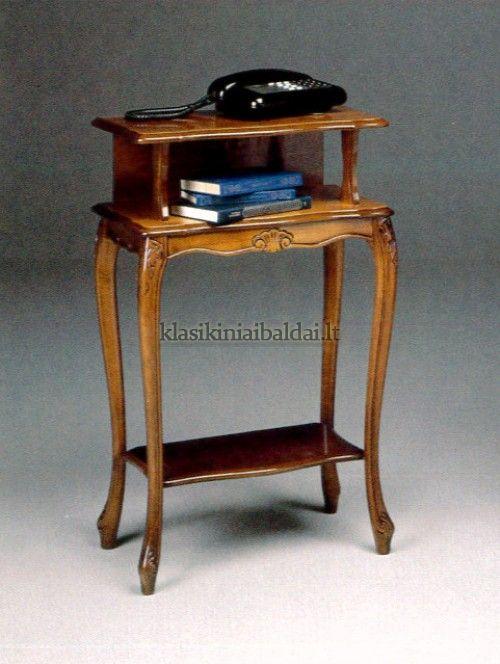 Klasikinio stiliaus interjeras art 163P Telefono staliukas