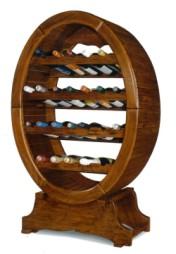 Sendinti klasikiniai baldai Komplektuojami baldai art 1211/A Vyno lentyna